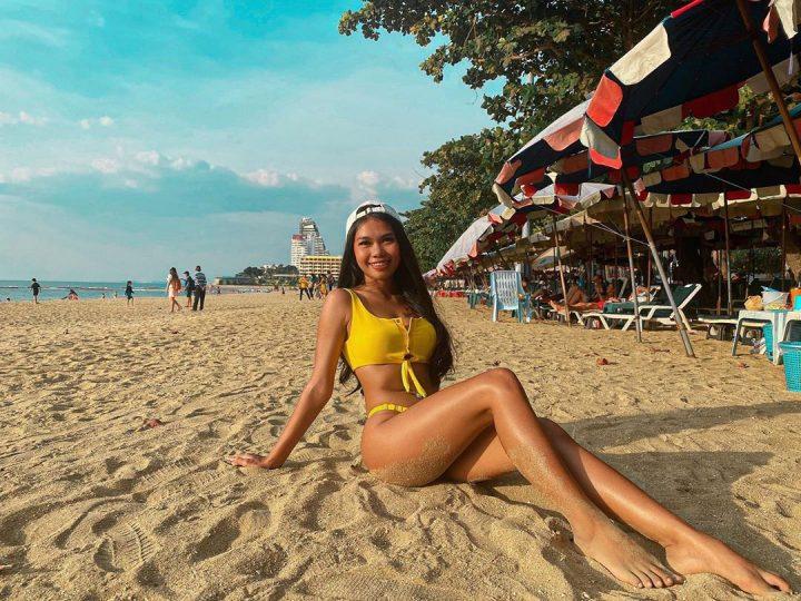 Monika on the beach