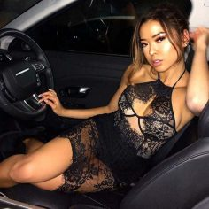 Super hot asian in lingerie